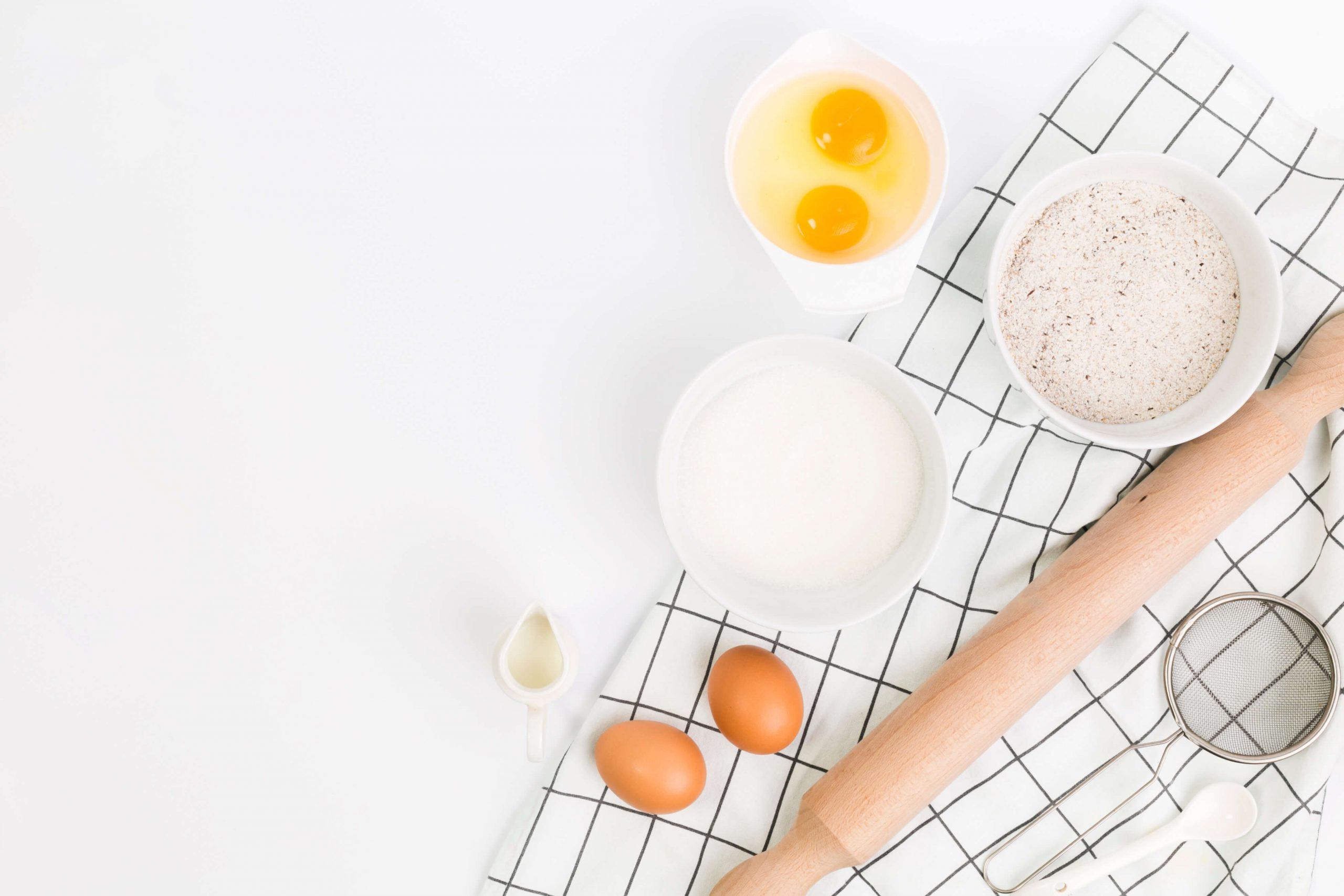 volovanes de huevo ecológico con gamba